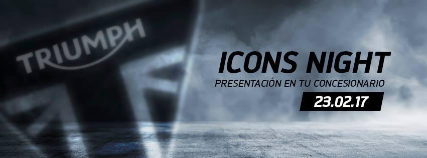 Icons Night 23.02.2017 – Presentación Street Scrambler y Bonneville Bobber