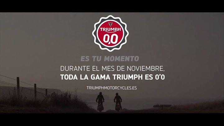 ¿Aún no te has enterado de que todavía estás a tiempo de hacerte con tu Triumph 0'0?