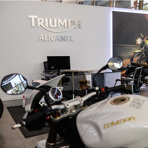 Relax while your Triumph is being serviced